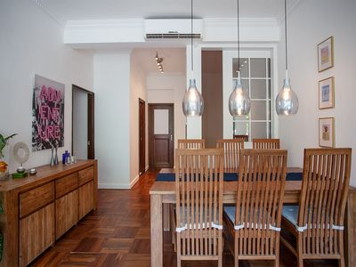 Photo for Stunning 2-bedroom plus study 1,100 sqf flat