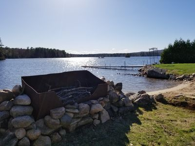 Photo for New Availability on the Water on Sunrise Lake! Sandy Beach, Huge Yard + Big Deck
