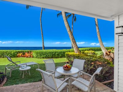 Photo for Poipu Kapili #07: Quiet end unit with Air Conditioning & Oceanfront Views