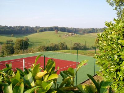 Our own Tennis court with fabulous views.