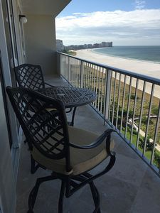 15th floor unit wide balcony southern view of Resident's Beach to Cape Marco.