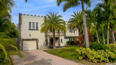 Enchanting canal front castle-like private home for your Siesta Key vacation.