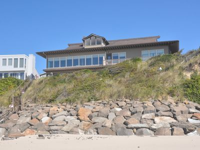 Photo for 6300+ sq Oceanfront with Private beach access.