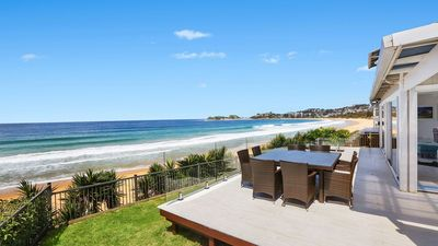 Photo for BEACHFRONT WAMBERAL, WAMBERAL - BEACHFRONT WITH SWEEPING OCEAN VIEWS, WIFI