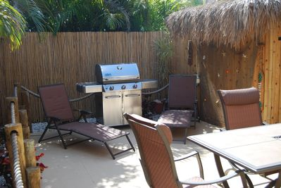 New Weber gas grill provided