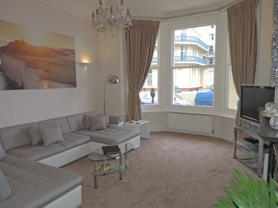 Relax in the large 13 square metre living room