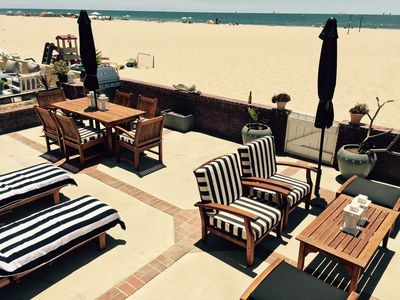 Photo for Gorgeously Presented West Newport Beach Furnished Oceanfront Rental, ON THE SAND