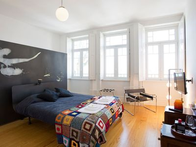 Photo for bedroom with river view. safe and quiet part of the city 1F