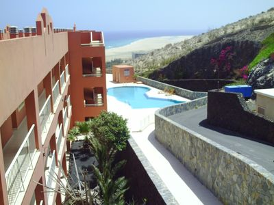 Photo for Beautiful 2 bedroom apartment with panoramic views Costa Calma.