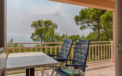 Photo for One bedroom apartment with terrace and sea view Sveta Nedilja (Hvar)