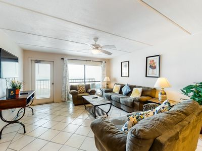 Dog-friendly oceanfront home features shared pools, tennis, hot tubs, & views!