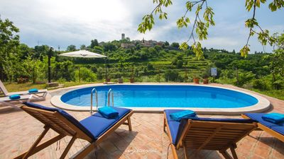 Photo for Lovely stone villa with private pool near Motovun