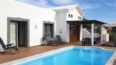 Photo for Peaceful modern 2 bedroomed villa with private heated pool, mountain views, wifi