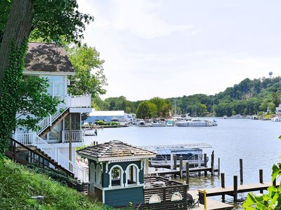 Photo for Saugatuck Riverfront Cottage, Amazing Views, Intown Location, Small Pets Allowed