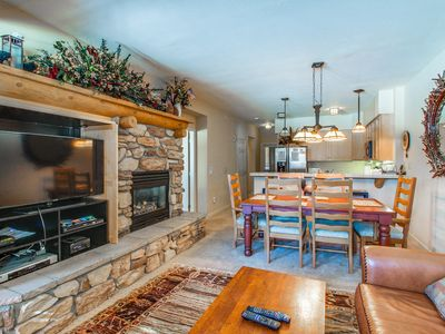 Photo for Charming condo w/shared hot tub/pool & amazing views of the Sherwin Mountains!