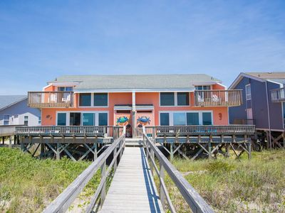 Photo for Oceanfront Newly Renovated House | Dog Friendly | Half of House | Steps to Beach