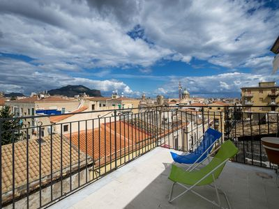 Photo for Panoramic penthouse in the historic center