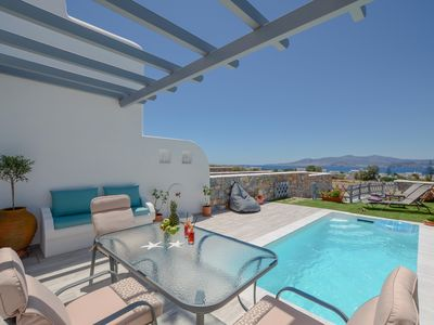 Photo for Irianna of Naxos Maisonette House with Pool & View