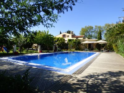 beautiful pool area private from the gites