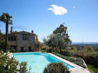 Photo for AUTHENTIC PROVENÇAL VILLA WITH POOL, GARDEN & STUNNING SEA VIEWS (ref: KAR80)