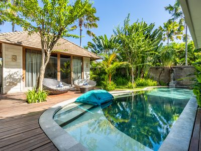 Photo for Four-Bedroom Pool Villa with Hot Tub, Great location, 2 mnts walk to the beach
