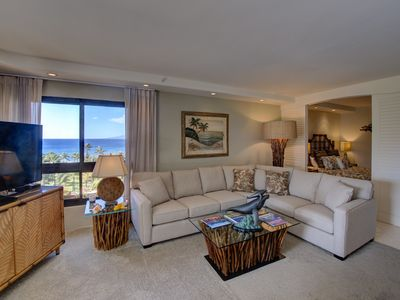 Photo for Ocean views+relaxing vistas of West Maui Mtns., great beach location in Lahaina