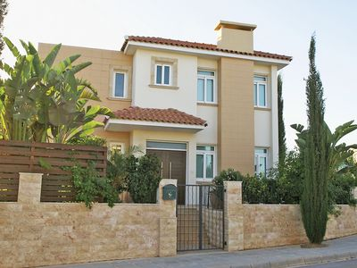 Photo for This 3-bedroom villa for up to 6 guests is located in Paralimni and has a private swimming pool, air