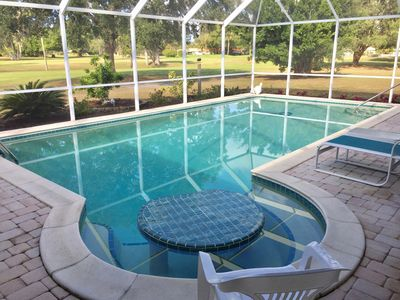Photo for PREMIERE HOME, 6 MONTH OR M RENTAL ,GOLF COURSE,HEATED SWIMMING POOL, NEAR BEACH