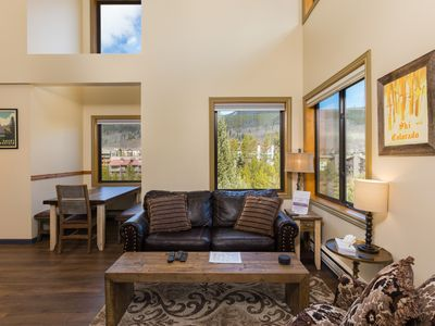 Photo for Updated Condo, Steps from Lift, Mountain Views, Sleeps 7