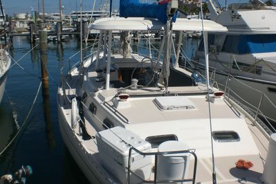 Wild Thing  44 ft. Morgan has lots of deck room for fun in the sun with hardtop.