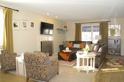 So much space!  Enjoy great family time together here in this gorgeous room.