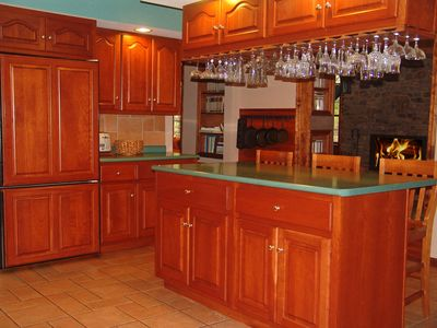 Kitchen; fully equiped with large and small appliances, pans and dishes
