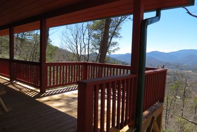 The view from the Deck! All mountain views pictures are taken from here!