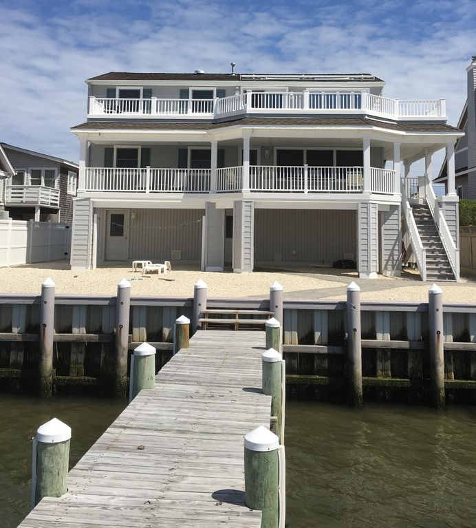 Sunset Park Apartments: Bayfront Duplex On LBI With 50' Dock And Boat Slip--1st