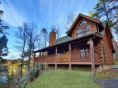 Photo for Private with Mountain and Water Views! FREE Resort Amenities! Pool, Putt Putt, Golf, Fishing, etc.