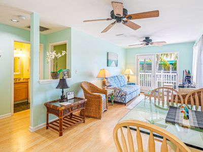 Photo for Corner unit condo w/ new kitchen - steps to Duval & Mallory Square!