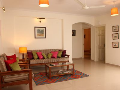 """Photo for """"Jaipur Apartment Stays"""" Secluded 2 BHK Apartment Leafy central Civil Lines"""