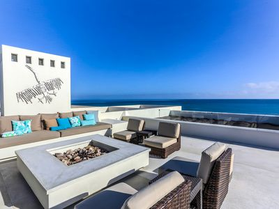 Photo for Magnificent Beachfront Villa, Pool, Spa, & Rooftop Deck!