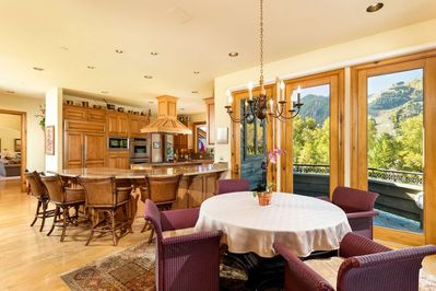 Soak in the view while you enjoy a cup of coffee or a relaxing lunch during your vacation in Aspen