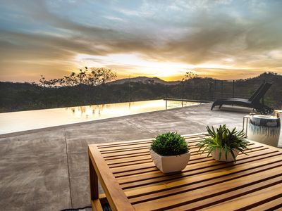 Photo for Beautiful Mountain-Side Modern Home w Infinity Pool, AC & Full Service