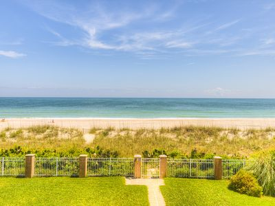 Photo for Oceanfront Duplex Direct oceanfront with pool,putting green and jacuzzi!