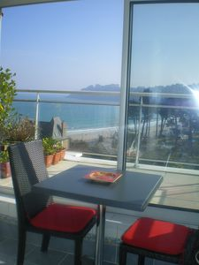 Photo for Perros Guirec, panoramic sea view, veranda, balcony.