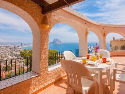 Photo for ARCADIEN, villa in Calpe with nice views to the sea and the Peñon de Ifach wifi free