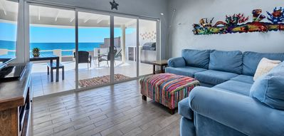 Imagine yourself relaxing in this oceanfront living space!