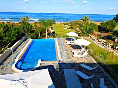 Photo for Beach Front Exclusive Luxury Villa -Unobstructed Sea Views -Private Sandy Beach