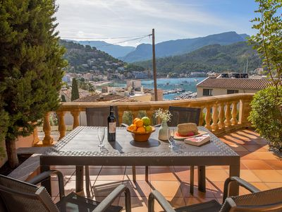 Photo for Fantastic property with sea views in the Port of Sóller. Free WIFI
