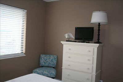 Master Suite includes Flat Panel TV with VCR