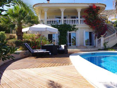 Photo for Beautiful villa with superb sea views and Private Tennis Court