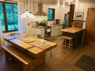 Renovated two-bedroom cabin minutes from Bozeman with creek in the back yard.