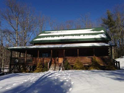 Photo for Spacious Mountain House on 15 Private Acres, minutes from West Jefferson